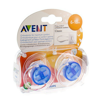 AVENT FOPSPEEN TRANSPARANT SILICONE +6M 2