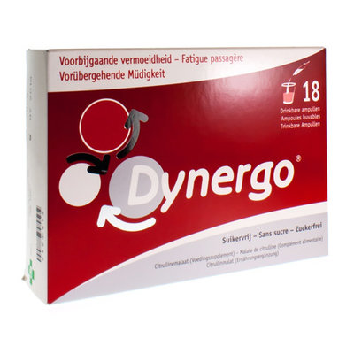 DYNERGO DRINKBARE AMP 18X10ML