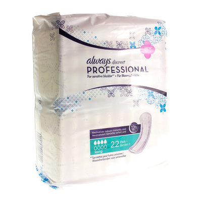 ALWAYS DISCREET PROFESSIONAL PAD LONG 22 CT