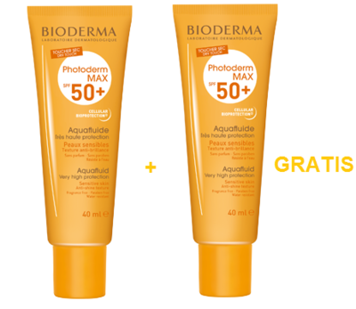 BIODERMA PHOTODERM MAX AQUAFLUIDE SPF50 40ML 1+1 GRATIS