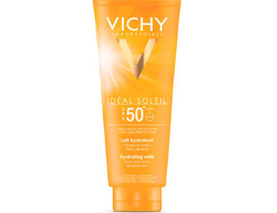 VICHY IDEAL SOLEIL HYDRATERENDE MELK SPF50 100ML - REISFORMAAT