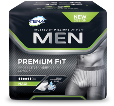 TENA MEN PREMIUM FIT PROTECTIVE UNDERWEAR LEVEL 4 MEDIUM 10 STUKS