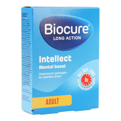 BIOCURE LONG ACTION INTELLECT MENTAL BOOST COMP 30