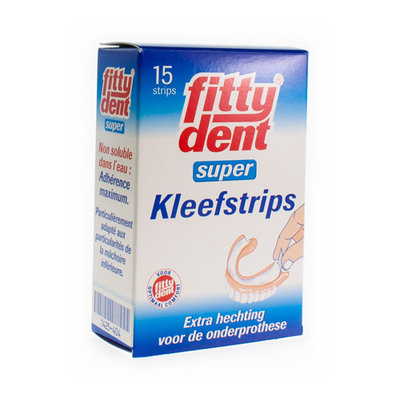 FITTYDENT KLEEFSTRIPS SUPER KLEVEND 15 STUKS