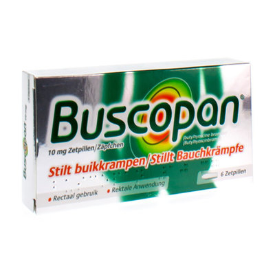 BUSCOPAN SUPP 6 X 10 MG