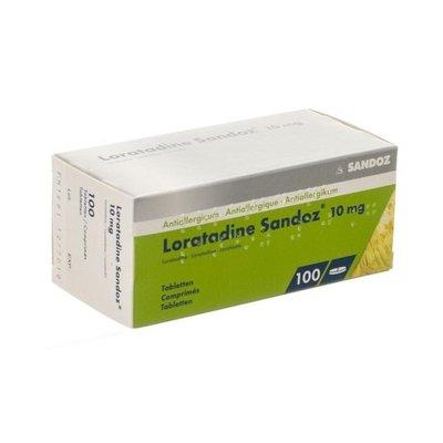 LORATADINE SANDOZ COMP 100 X 10 MG