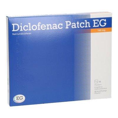DICLOFENAC PATCH EG 140MG PLEISTER 10