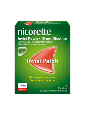 NICORETTE INVISI 10 MG PATCH 14 STUKS TRANSDERMAAL