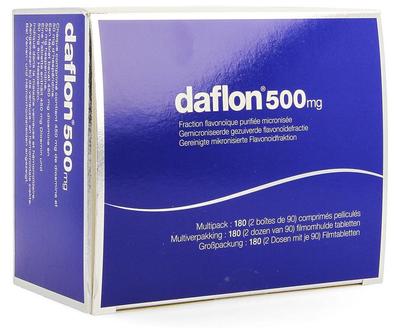 DAFLON 500MG FILMOMH TABL 180
