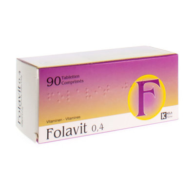 FOLAVIT 0,4 MG TABL 90 X 0,4 MG
