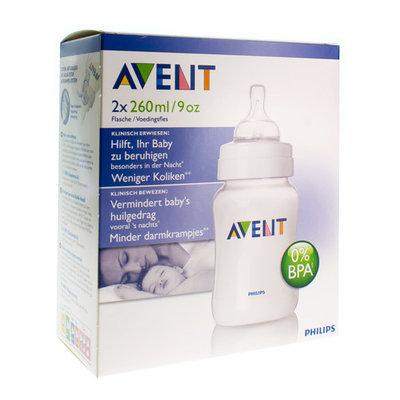 AVENT ZUIGFLES BPA-VRIJ POLYPROPYL.2X260ML