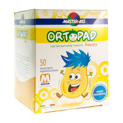 ORTOPAD HAPPY MEDIUM OOGKOMPRES 50 70132