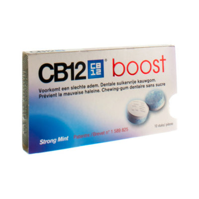CB12 BOOST STRONG MINT KAUWGOM 10