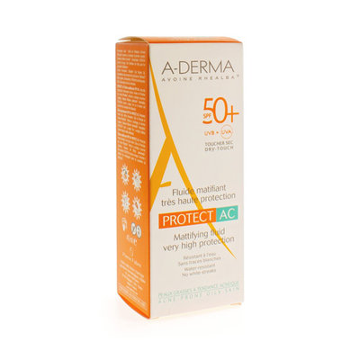 ADERMA PROTECT CREME ACNE IP50+ TUBE 40ML