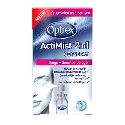 OPTREX ACTIMIST OOGSPRAY DROGE EN GEIRRITEERDE OGEN 10ML