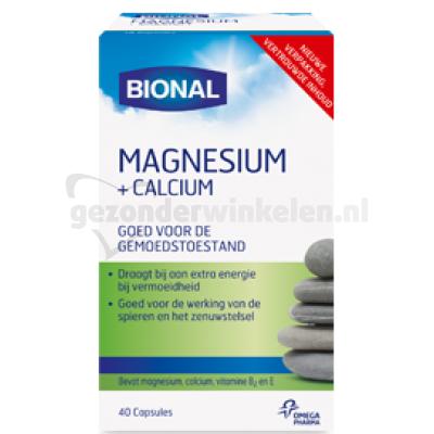 BIONAL MAGNESIUM + CALCIUM TABL 40