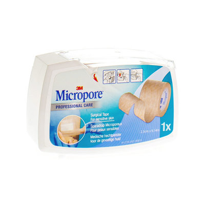MICROPORE 3M SURGICAL TAPE TAN DISP. 25,0MMX9,1M 1