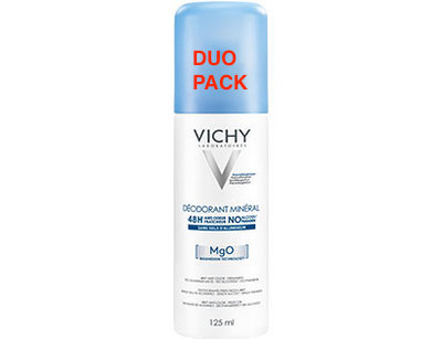 VICHY DEO MINERAAL 48U SPRAY DUO 2X125ML