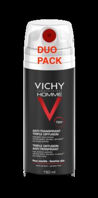 VICHY HOMME DEO TRI-SPRAY 72H DUO 2X150ML