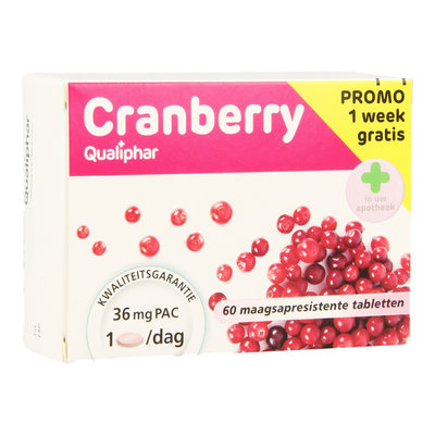 CRANBERRY QUALIPHAR 60 TABLetten PROMO + 1 WEEK GRATIS