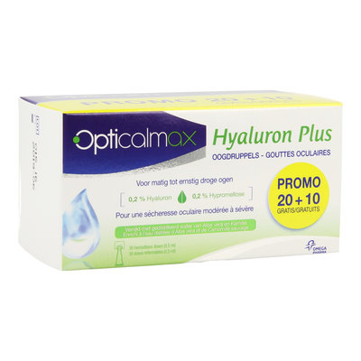 OPTICALMAX HYALURON PLUS OOGDRUPPELS 30X0,5ML PROMO