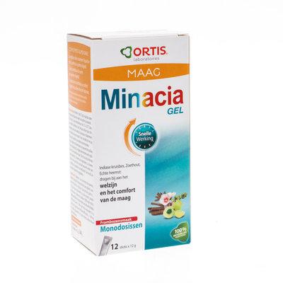 ORTIS MINACIA GEL STICKS FRAMBOOS 12X12G