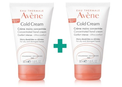 AVENE DUO COLD CREAM HANDCREME 2X50ML 2DE -50%