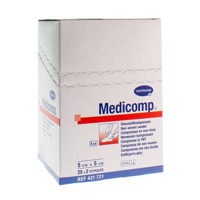 MEDICOMP KOMPRESSEN STERIEL 5 X 5CM 25 X 2 STUKS