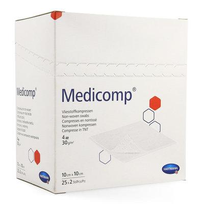 MEDICOMP KOMPRESSEN STERIEL 10X 10CM 25 X 2 STUKS