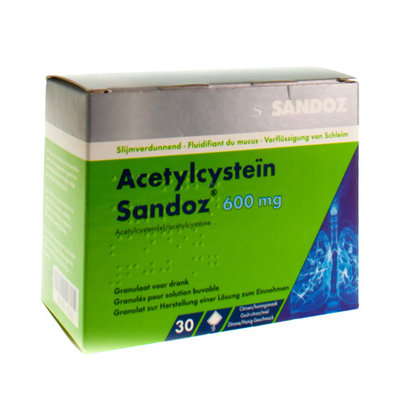 ACETYLCYSTEIN SANDOZ 600MG 32 ZAKJES