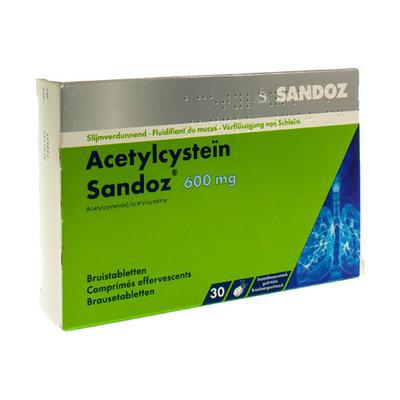 ACETYLCYSTEIN SANDOZ 600MG BRUISTABL 30