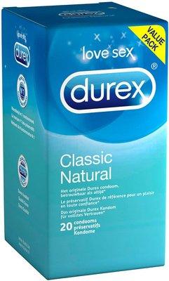DUREX CLASSIC NATURAL CONDOOMS 20
