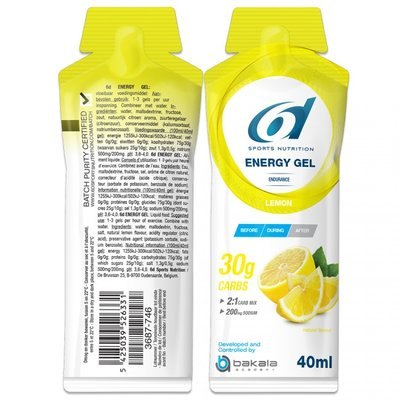6D ENERGY GEL CITROEN - LEMON 12X40G