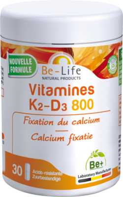 VITAMINES K2 D3 800 BE LIFE V-CAPS 30