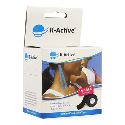 NAQI K ACTIVE TAPE BLACK 5,0CMX5M