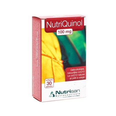 NUTRIQUINOL 100MG SOFTGELS 30 NUTRISAN