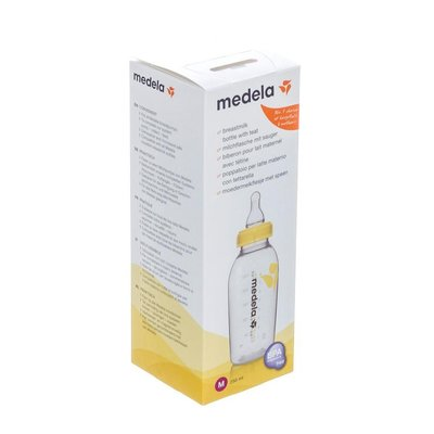 MEDELA MOEDERMELKFLESJE 250ML + SPEEN MEDIUM FLOW