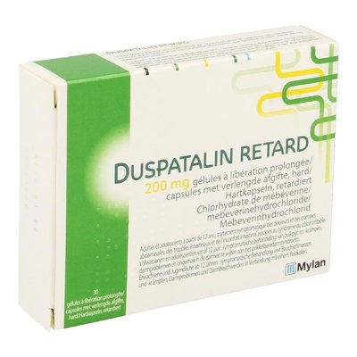 DUSPATALIN RETARD 200MG VERLENGDE AFGIFTE CAPS 30