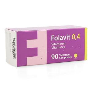FOLAVIT 0,4MG COMP 90X0,4MG NF