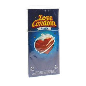LOVE CONDOM SENSITIVE CONDOOMS MET GLIJMIDDEL 6