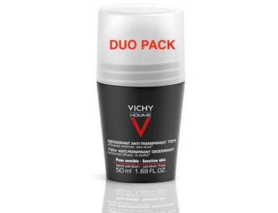 VICHY HOMME DEO A/TRANSP. 72U ROLLER DUO 2X50ML