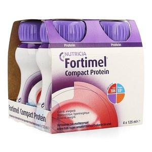 FORTIMEL COMPACT PROTEIN FRIS RODE VRUCHTEN 4X125ML